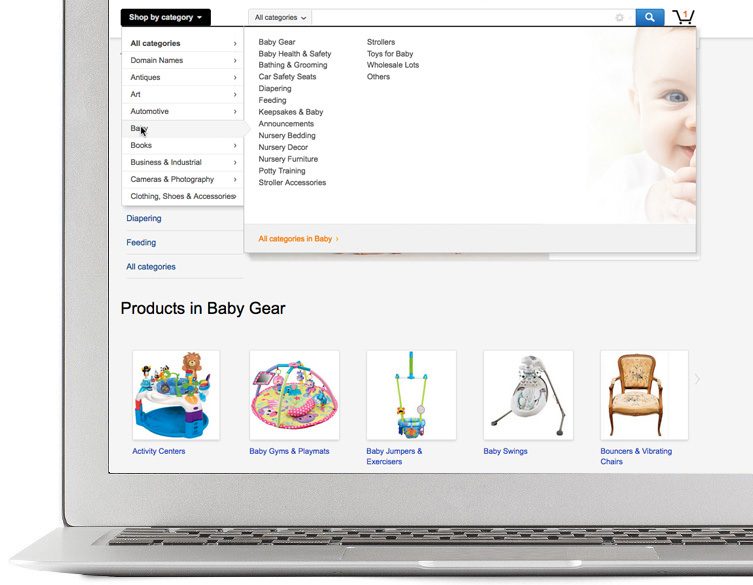 Sell baby items online