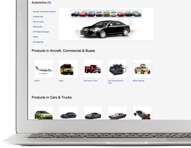 Sell cars online