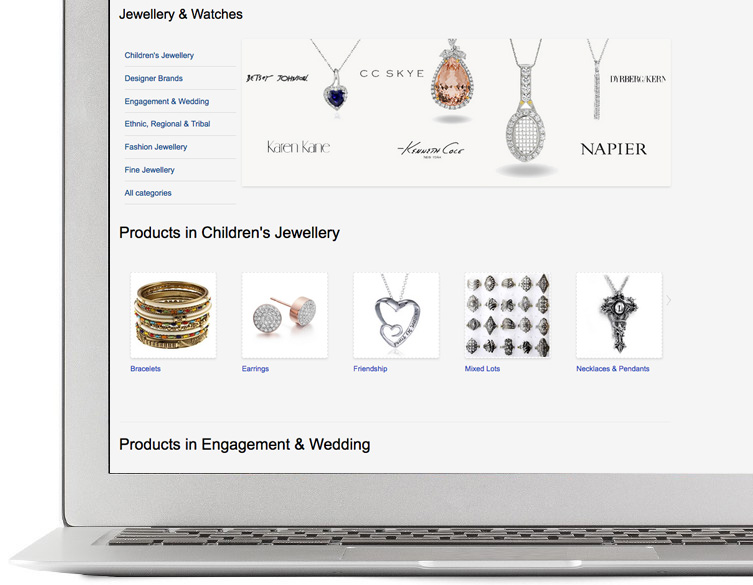 Sell jewellery online
