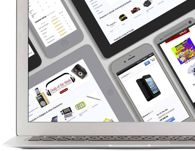 Ecommerce for mobile, tablet and desktop