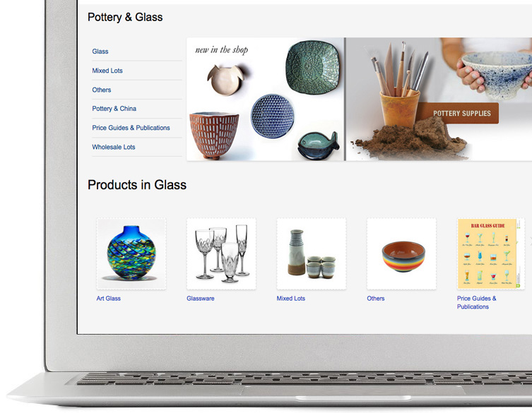 Sell pottery online